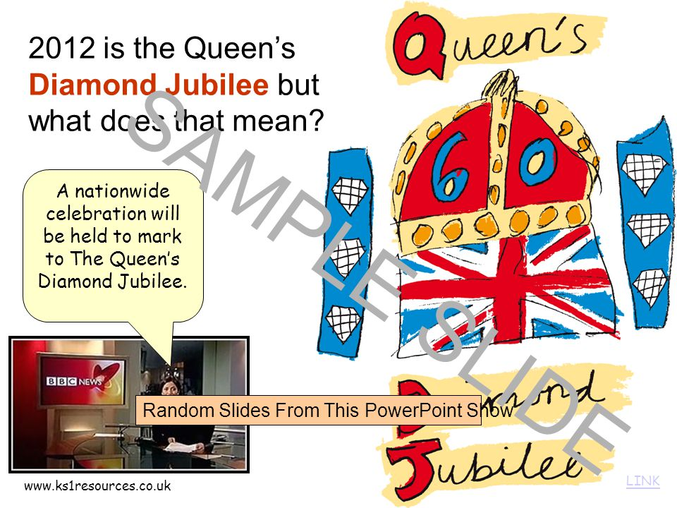 www.ks1resources.co.uk 2012 is the Queen's Diamond Jubilee but what does that mean.