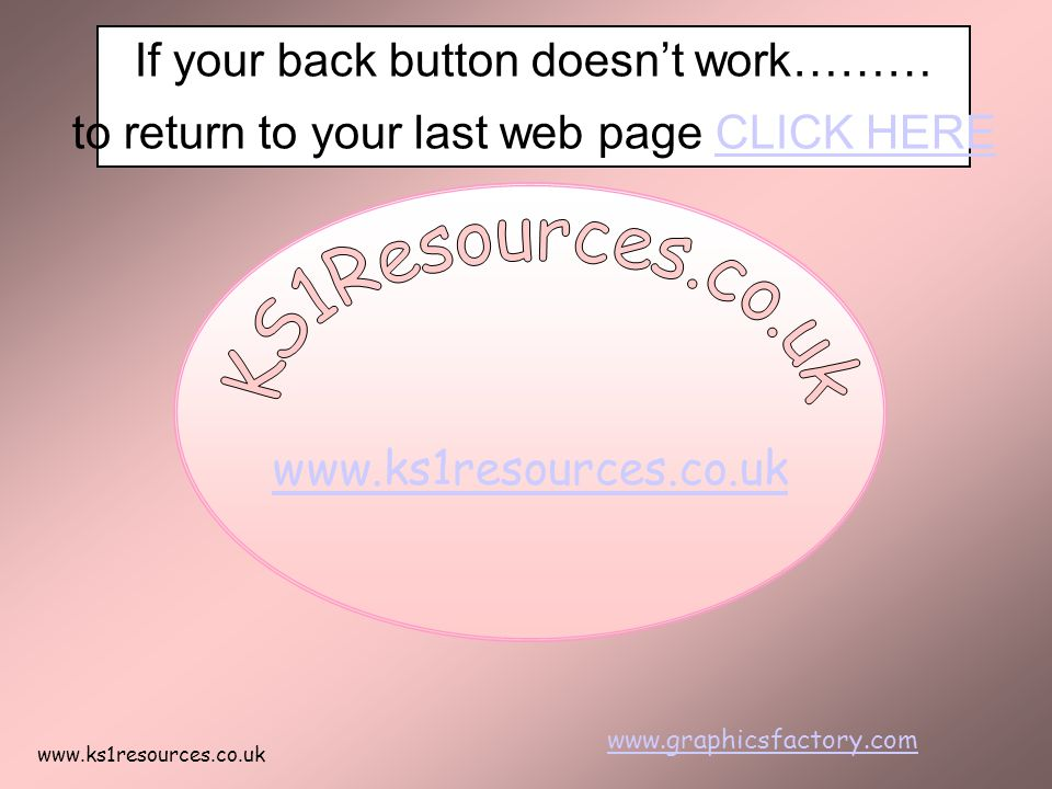 www.ks1resources.co.uk www.graphicsfactory.com If your back button doesn't work……… to return to your last web page CLICK HERECLICK HERE