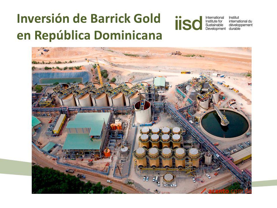Inversión de Barrick Gold en República Dominicana
