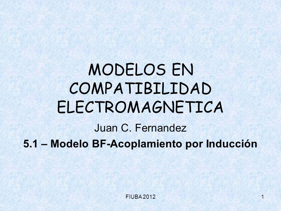 FIUBA 20121 MODELOS EN COMPATIBILIDAD ELECTROMAGNETICA Juan C. Fernandez 5.1 – Modelo BF-Acoplamiento por Inducción