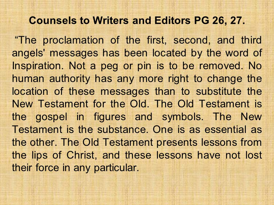 Counsels to Writers and Editors PG 26, 27.