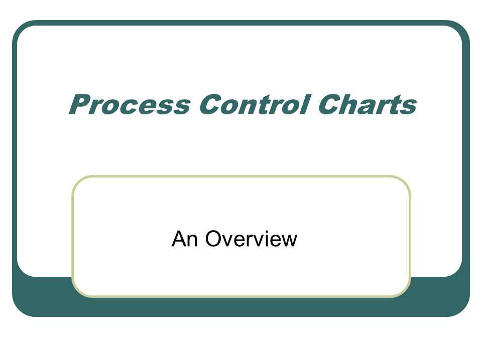 Process Control Charts An Overview