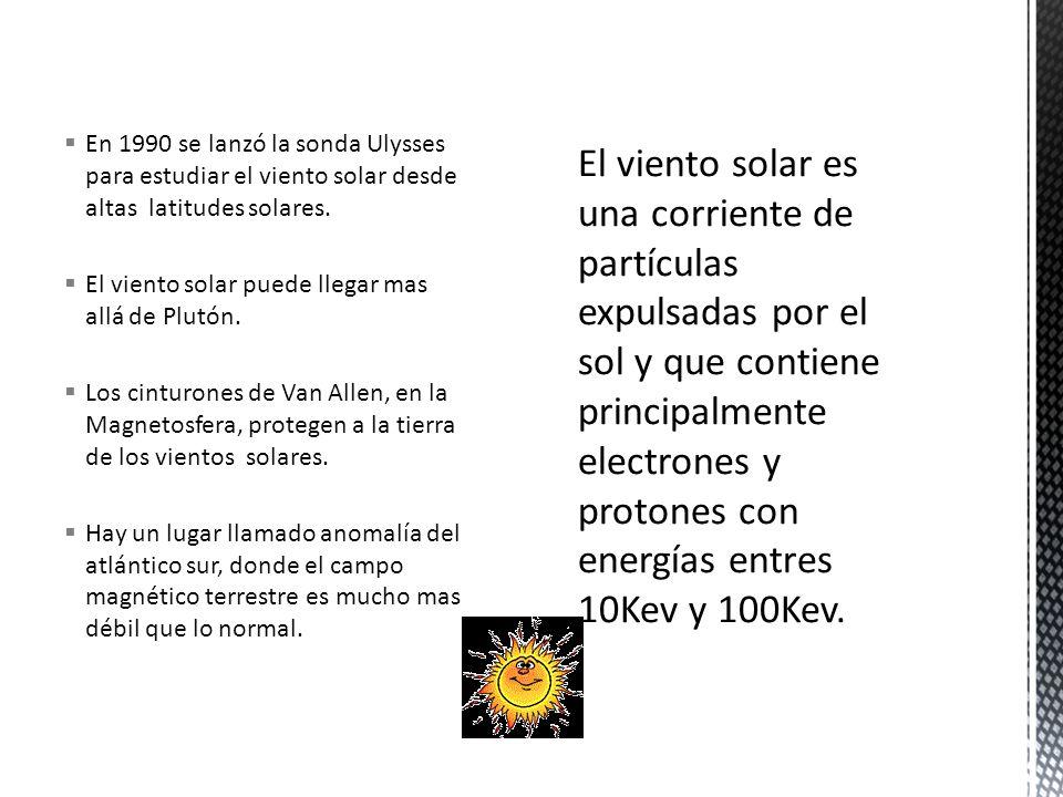  En 1990 se lanzó la sonda Ulysses para estudiar el viento solar desde altas latitudes solares.