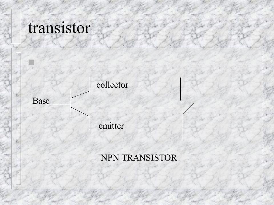transistor n Base collector emitter NPN TRANSISTOR