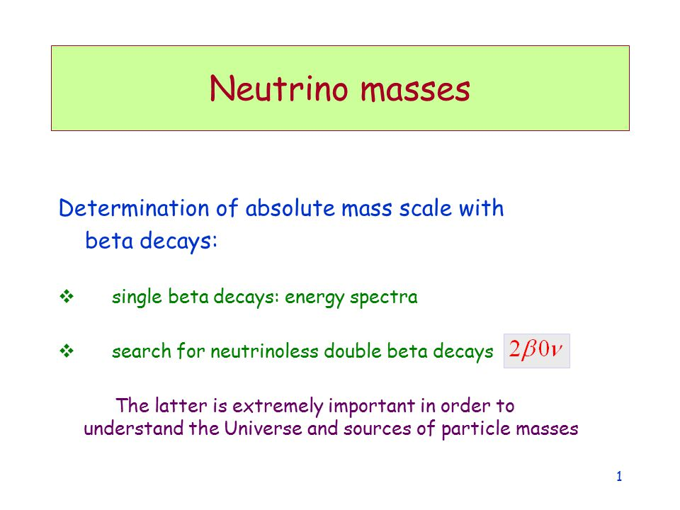 Normal Inverted (Mass) 2 } } or Neutrino (mass) 2 spectrum From neutrinos... DK&ER lecture11 2