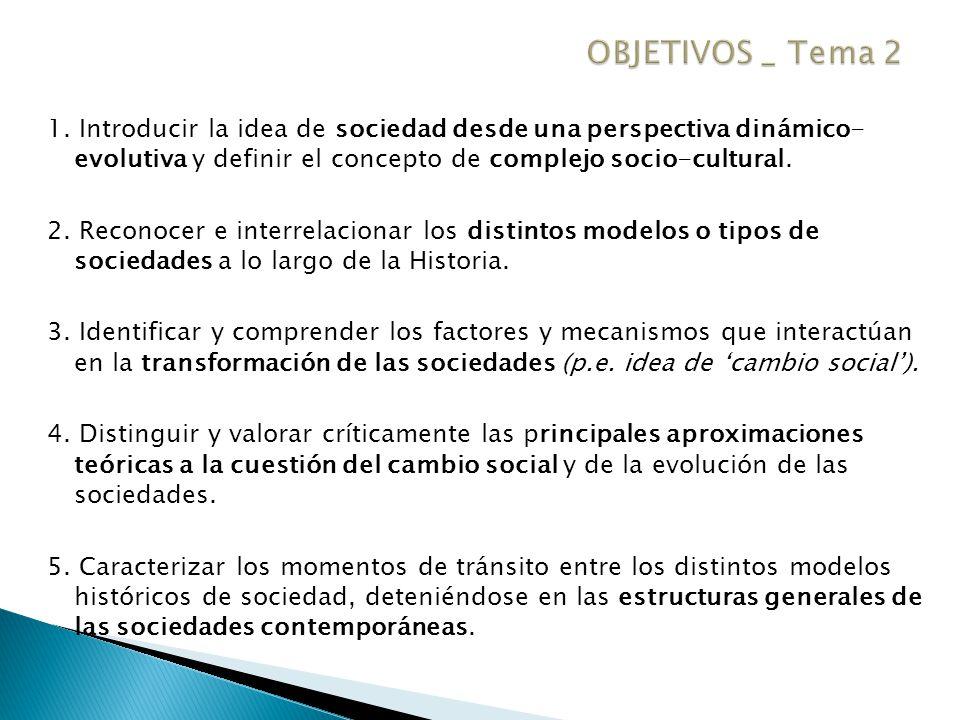 1.La sociedad: concepto y características. 2.