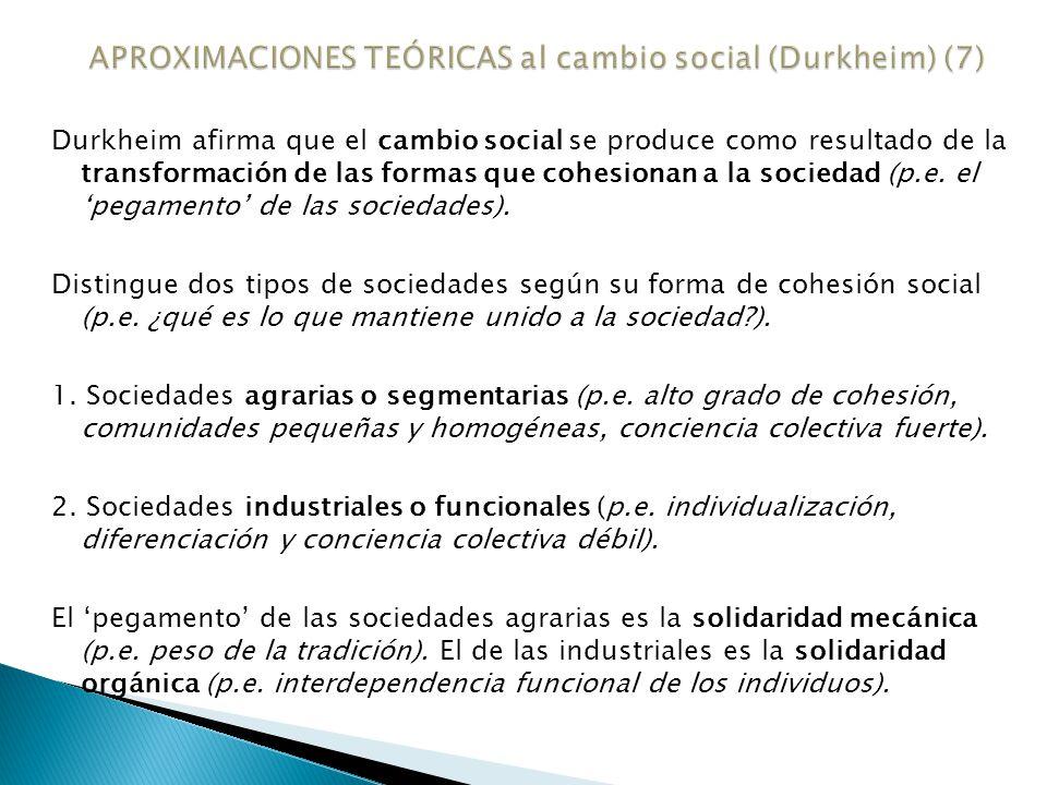 Según Durkheim las sociedades industriales son más inestables.
