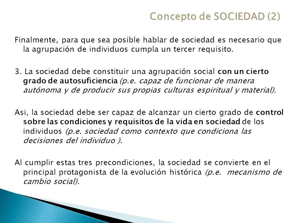 El análisis sociológico (p.e.