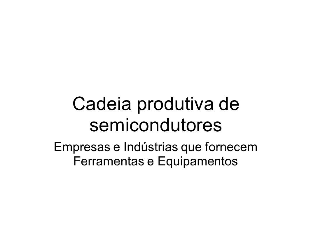 Cadeia produtiva de semicondutores Empresas e Indústrias que fornecem Ferramentas e Equipamentos