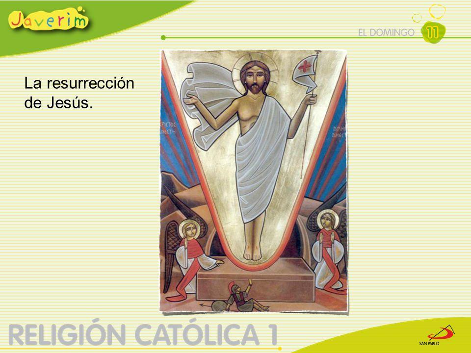 El domingo, María Magdalena y otras mujeres fueron al sepulcro para embalsamar el cuerpo de Jesús.