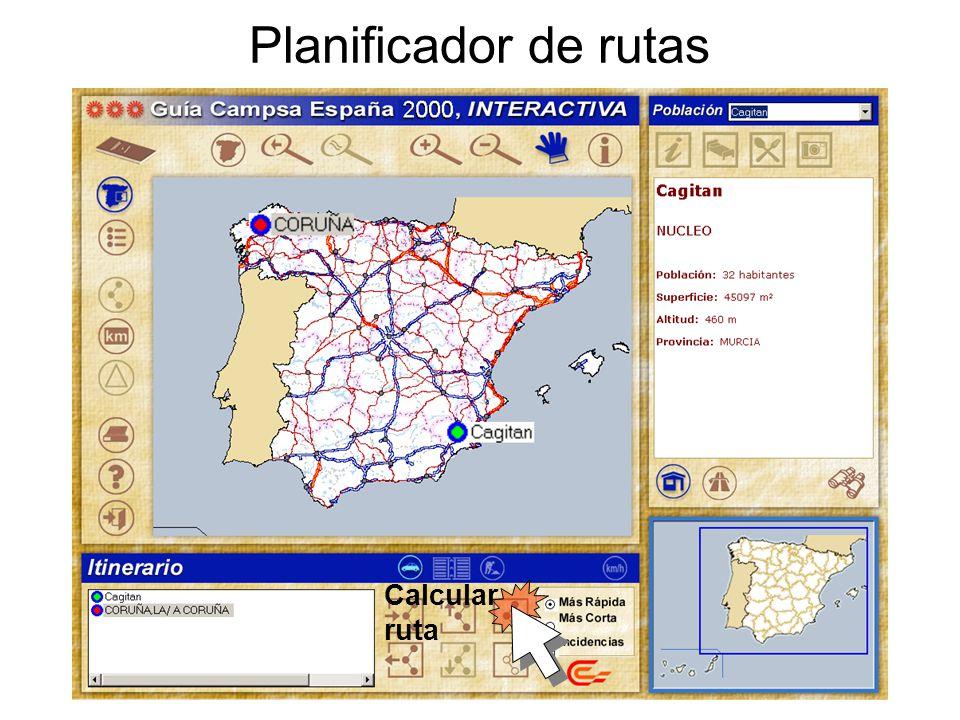 Planificador de rutas Calcular ruta