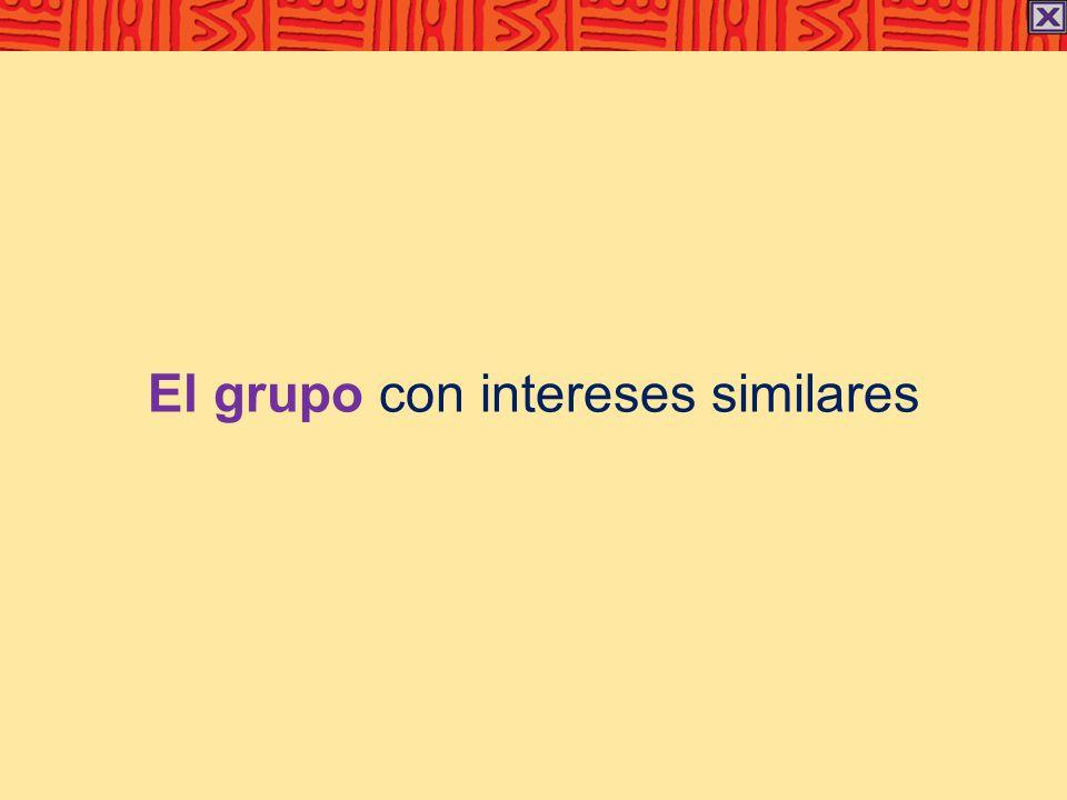 El grupo con intereses similares