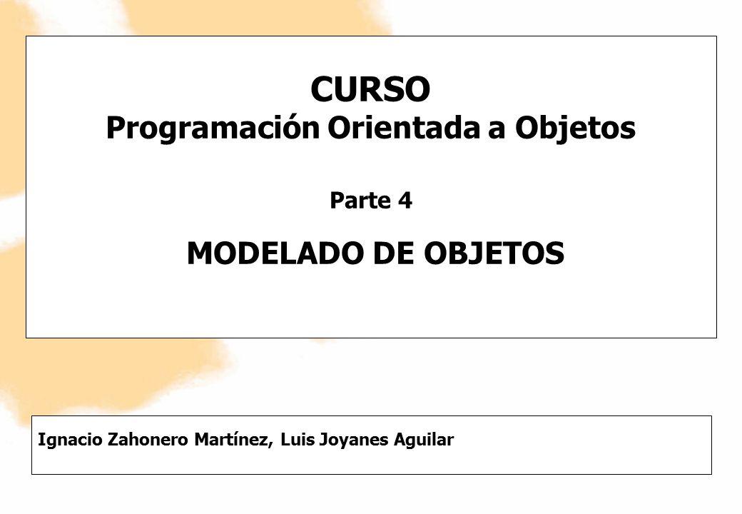 CURSO Programación Orientada a Objetos Parte 4 MODELADO DE OBJETOS Ignacio Zahonero Martínez, Luis Joyanes Aguilar