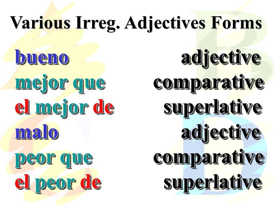 Various Irreg.