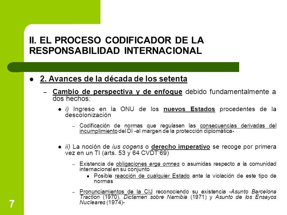 7 II. EL PROCESO CODIFICADOR DE LA RESPONSABILIDAD INTERNACIONAL 2.