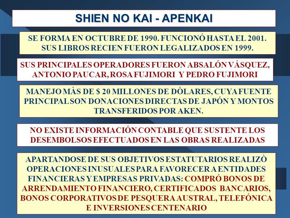 SHIEN NO KAI - APENKAI SE FORMA EN OCTUBRE DE 1990.
