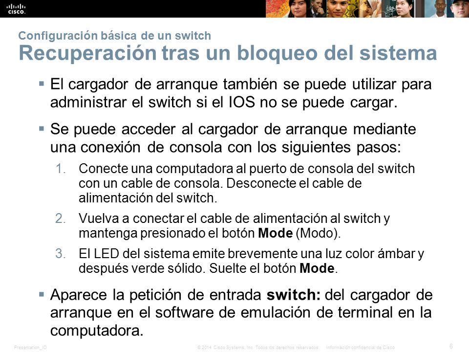 Presentation_ID 17 © 2014 Cisco Systems, Inc.