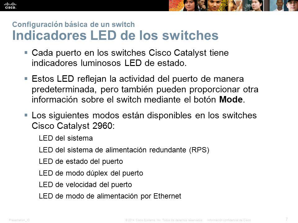 Presentation_ID 18 © 2014 Cisco Systems, Inc.