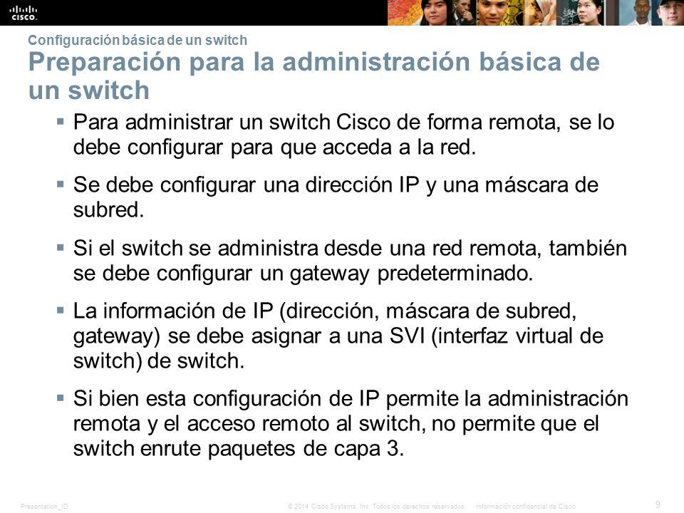 Presentation_ID 20 © 2014 Cisco Systems, Inc.