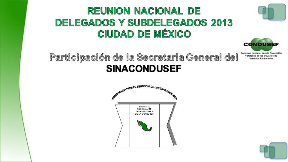 SINDICATO NACIONAL DE TRABAJADORES DE LA CONDUSEF SINDICATO NACIONAL DE TRABAJADORES DE LA CONDUSEF