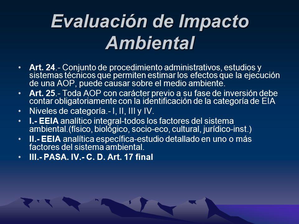Evaluación de Impacto Ambiental Art.