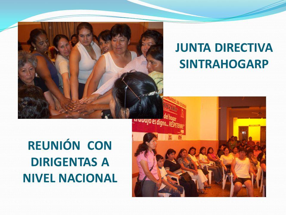JUNTA DIRECTIVA SINTRAHOGARP REUNIÓN CON DIRIGENTAS A NIVEL NACIONAL