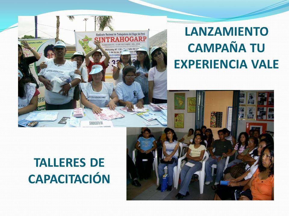 LANZAMIENTO CAMPAÑA TU EXPERIENCIA VALE TALLERES DE CAPACITACIÓN