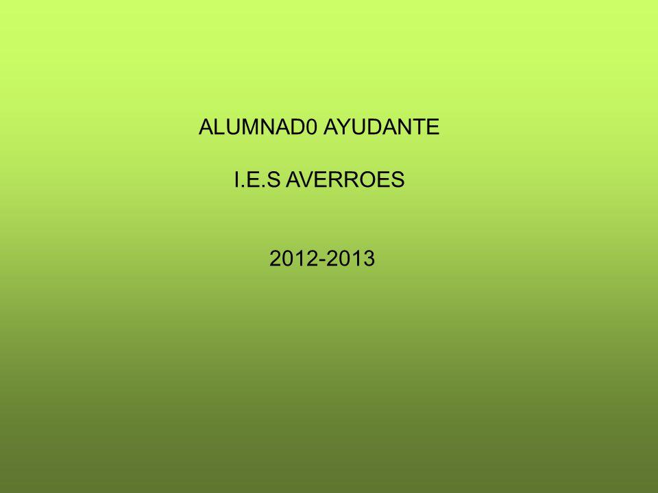 ALUMNAD0 AYUDANTE I.E.S AVERROES 2012-2013