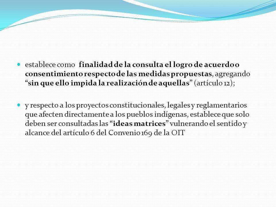 """establece como finalidad de la consulta el logro de acuerdo o consentimiento respecto de las medidas propuestas, agregando """"sin que ello impida la rea"""