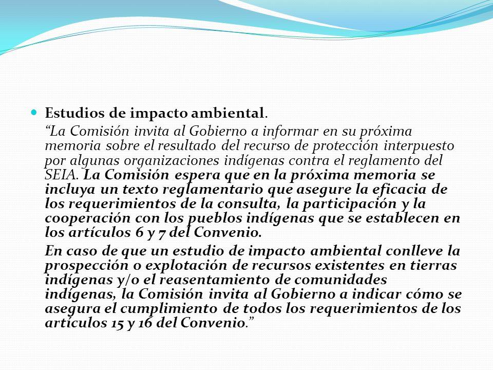 Estudios de impacto ambiental.