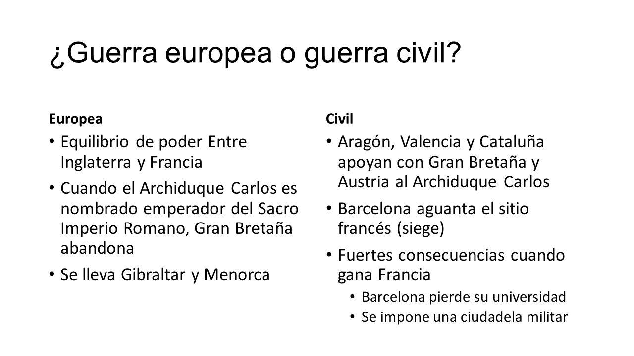 ¿Guerra europea o guerra civil.