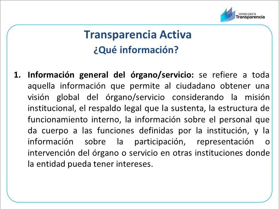 Transparencia Activa ¿Qué información.