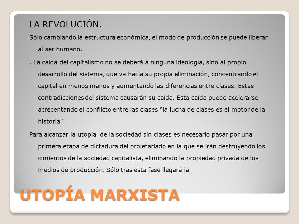 UTOPÍA MARXISTA LA REVOLUCIÓN.