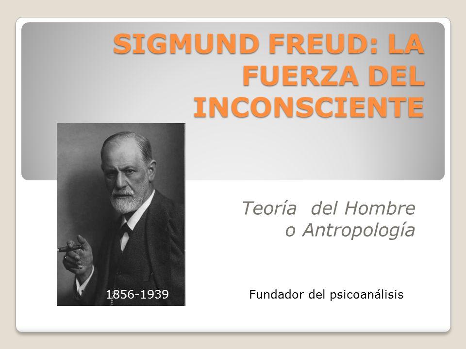 Teoría del Hombre o Antropología SIGMUND FREUD: LA FUERZA DEL INCONSCIENTE Fundador del psicoanálisis1856-1939