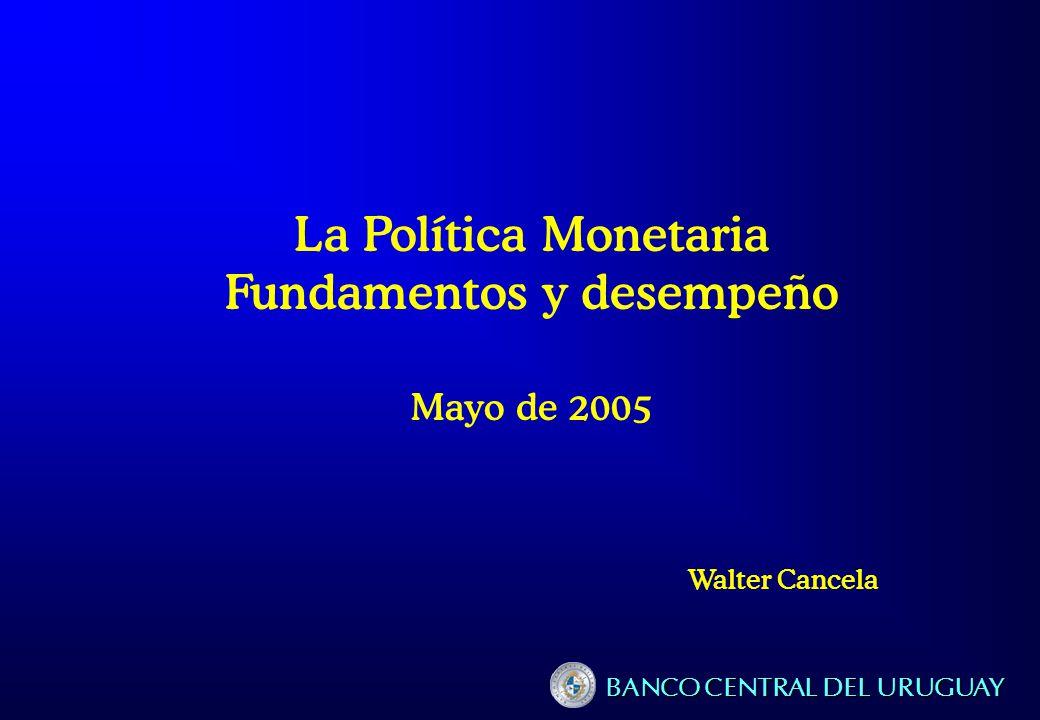 Plan de la exposición 1.Política monetaria: fundamentos y lógica 2.Inflación Tendencias recientes Inflación subyacente Expectativas 3.El comportamiento del mercado monetario