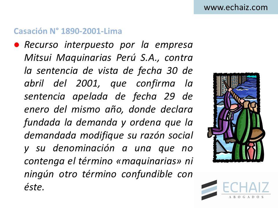 Recurso interpuesto por la empresa Mitsui Maquinarias Perú S.A., contra la sentencia de vista de fecha 30 de abril del 2001, que confirma la sentencia