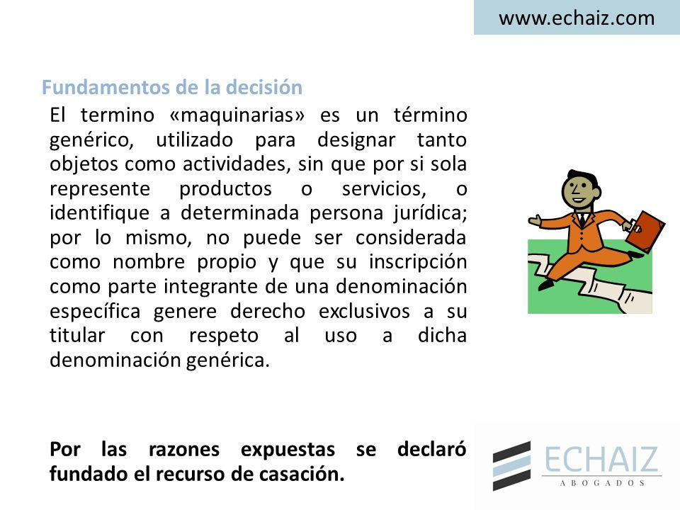 www.echaiz.com El termino «maquinarias» es un término genérico, utilizado para designar tanto objetos como actividades, sin que por si sola represente