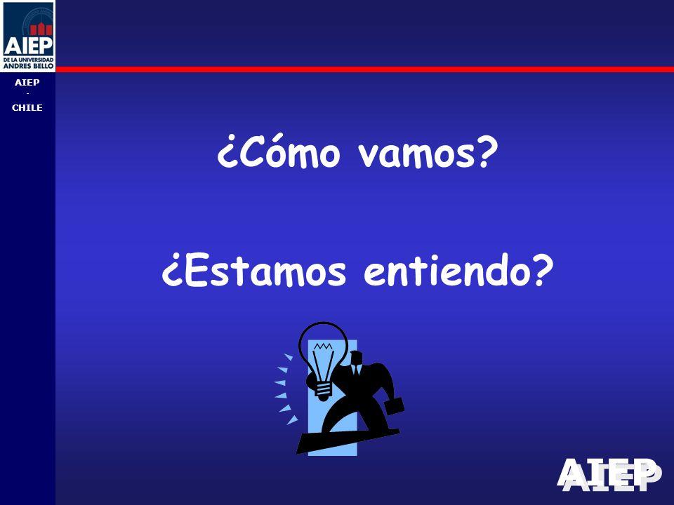 AIEP - CHILE ¿Cómo vamos? ¿Estamos entiendo?