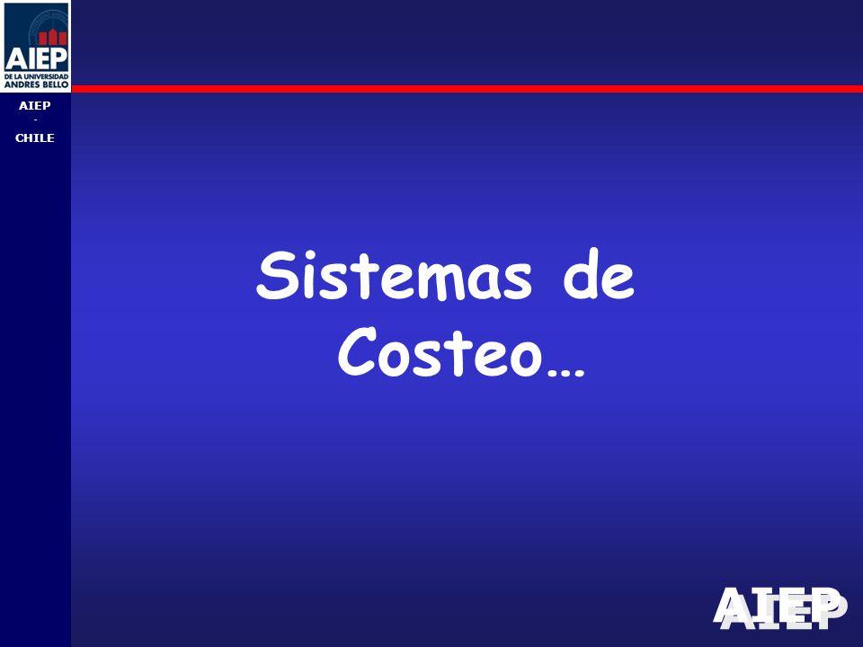 AIEP - CHILE Sistemas de Costeo…