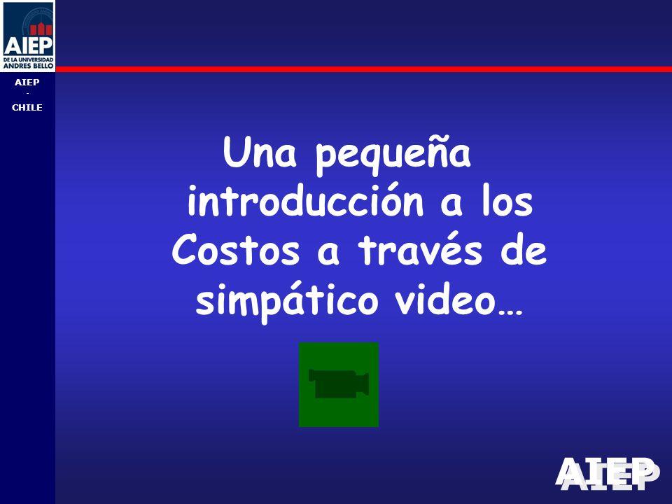 AIEP - CHILE Una pequeña introducción a los Costos a través de simpático video…