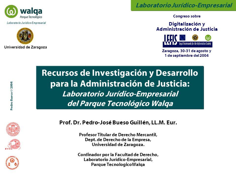 Laboratorio Jurídico-Empresarial Universidad de Zaragoza Laboratorio Jurídico-Empresarial Pedro Bueso © 2004 Prof. Dr. Pedro-José Bueso Guillén, LL.M.