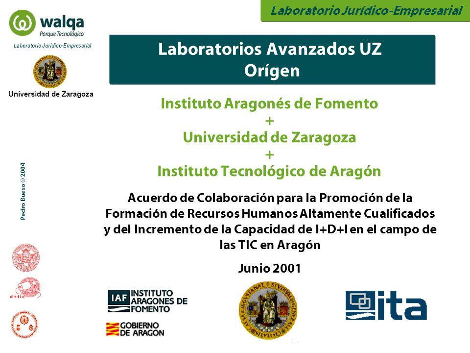 Laboratorio Jurídico-Empresarial Universidad de Zaragoza Laboratorio Jurídico-Empresarial Pedro Bueso © 2004 Laboratorios Avanzados UZ Orígen Institut