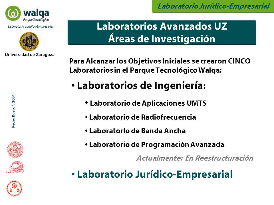 Laboratorio Jurídico-Empresarial Universidad de Zaragoza Laboratorio Jurídico-Empresarial Pedro Bueso © 2004 Laboratorios Avanzados UZ Áreas de Invest