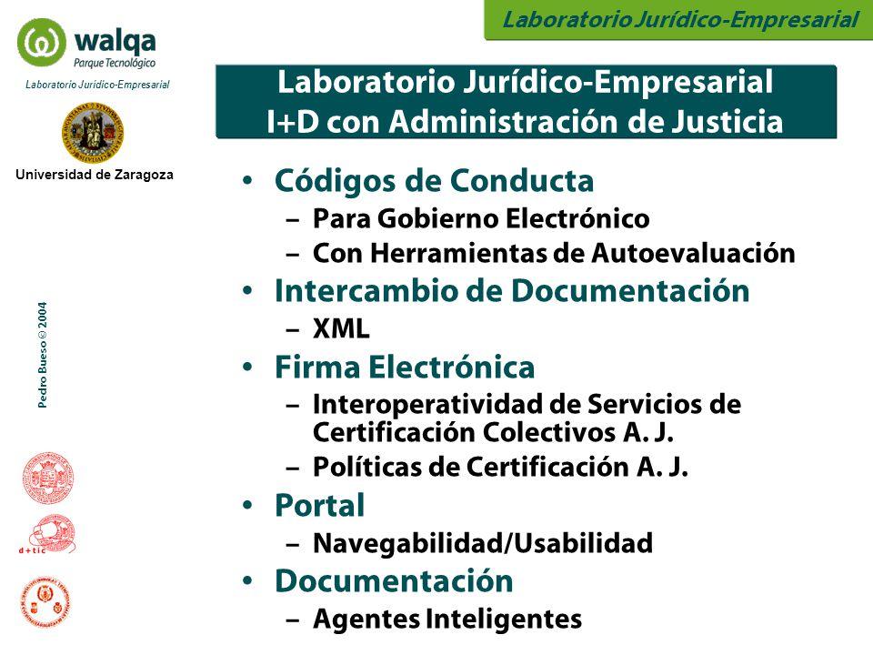 Laboratorio Jurídico-Empresarial Universidad de Zaragoza Laboratorio Jurídico-Empresarial Pedro Bueso © 2004 Laboratorio Jurídico-Empresarial I+D con