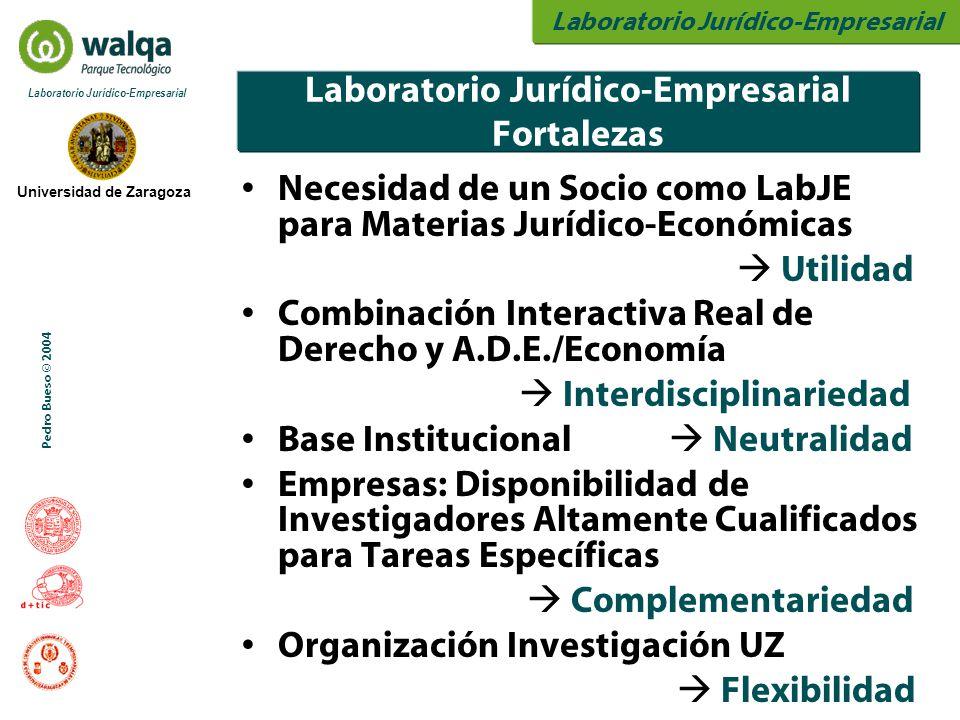 Laboratorio Jurídico-Empresarial Universidad de Zaragoza Laboratorio Jurídico-Empresarial Pedro Bueso © 2004 Laboratorio Jurídico-Empresarial Fortalez