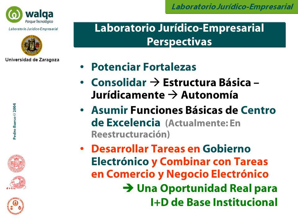 Laboratorio Jurídico-Empresarial Universidad de Zaragoza Laboratorio Jurídico-Empresarial Pedro Bueso © 2004 Laboratorio Jurídico-Empresarial Perspect