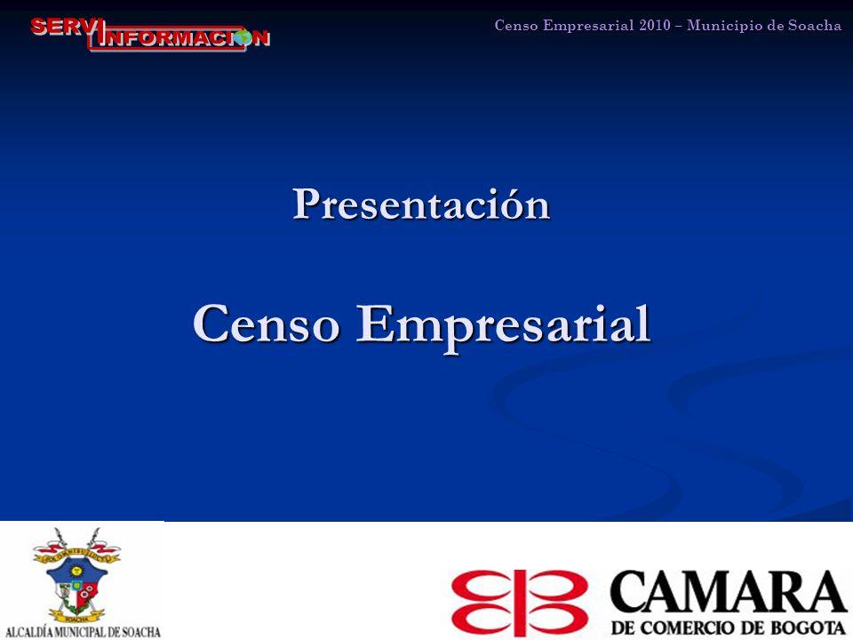 Presentación Censo Empresarial Censo Empresarial 2010 – Municipio de Soacha