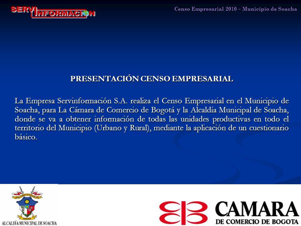PRESENTACIÓN CENSO EMPRESARIAL La Empresa Servinformación S.A.