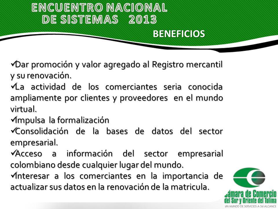 Dar promoción y valor agregado al Registro mercantil y su renovación.