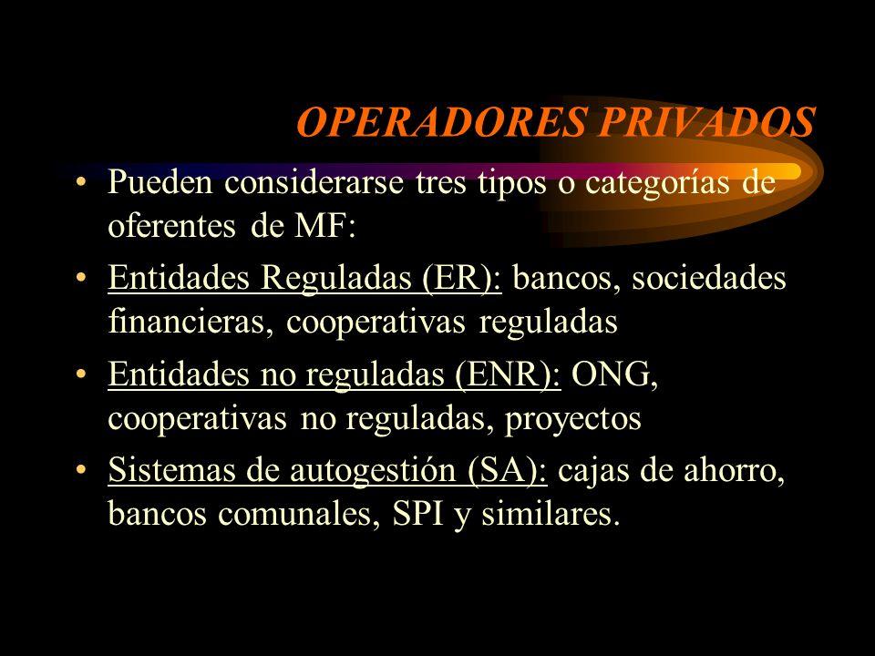 SEGMENTOS DE LA MYPE DE BAJA PRODUCTIVIDAD Y LOS SERVICIOS